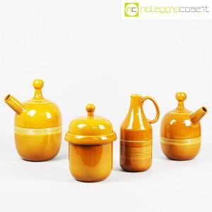 Ceramiche Franco Pozzi, caraffe e contenitore ocra, Ambrogio Pozzi (1)