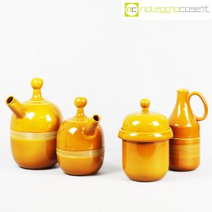 Ceramiche Franco Pozzi, caraffe e contenitore ocra, Ambrogio Pozzi (3)