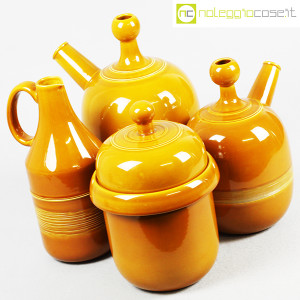 Ceramiche Franco Pozzi, caraffe e contenitore ocra, Ambrogio Pozzi (4)