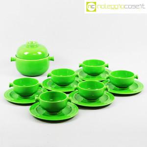 Ceramiche Franco Pozzi, contenitore e tazze verdi, Ambrogio Pozzi (1)
