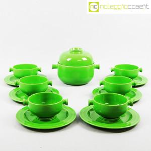 Ceramiche Franco Pozzi, contenitore e tazze verdi, Ambrogio Pozzi (2)