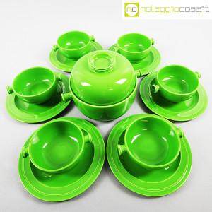 Ceramiche Franco Pozzi, contenitore e tazze verdi, Ambrogio Pozzi (3)