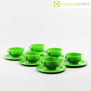 Ceramiche Franco Pozzi, contenitore e tazze verdi, Ambrogio Pozzi (6)