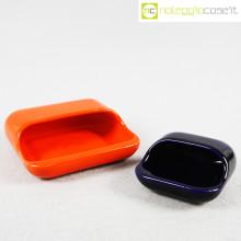 Gabbianelli arancio e blu posacenere