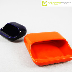Gabbianelli, set posacenere arancio e blu (6)