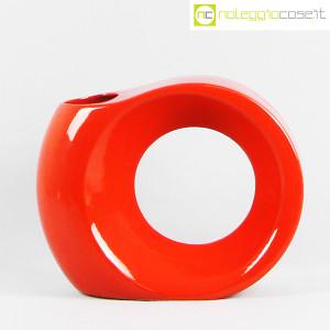 Parravicini Ceramiche, vaso rosso con buco (1)