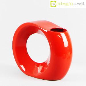 Parravicini Ceramiche, vaso rosso con buco (2)