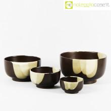 Ceramiche Pozzi set ciotole marrone