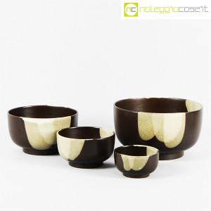 Ceramiche Franco Pozzi, set ciotole marrone, Ambrogio Pozzi (1)