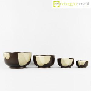 Ceramiche Franco Pozzi, set ciotole marrone, Ambrogio Pozzi (2)