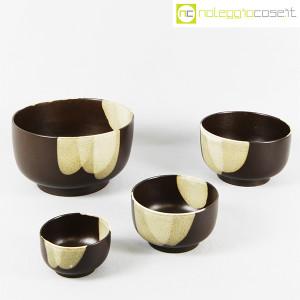 Ceramiche Franco Pozzi, set ciotole marrone, Ambrogio Pozzi (3)