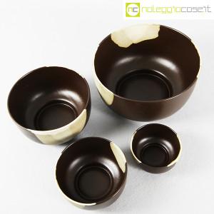 Ceramiche Franco Pozzi, set ciotole marrone, Ambrogio Pozzi (4)