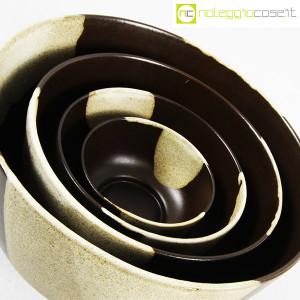 Ceramiche Franco Pozzi, set ciotole marrone, Ambrogio Pozzi (5)