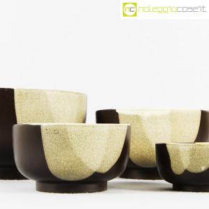Ceramiche Franco Pozzi, set ciotole marrone, Ambrogio Pozzi (6)