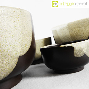 Ceramiche Franco Pozzi, set ciotole marrone, Ambrogio Pozzi (7)