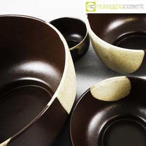 Ceramiche Franco Pozzi, set ciotole marrone, Ambrogio Pozzi (8)