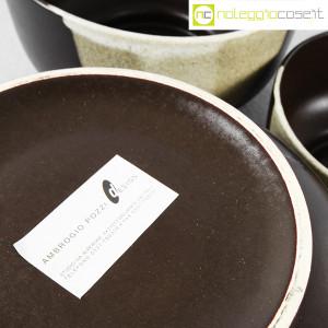 Ceramiche Franco Pozzi, set ciotole marrone, Ambrogio Pozzi (9)