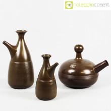 Ceramiche Pozzi tris brocche marroni