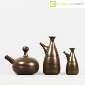 Ceramiche Franco Pozzi, tris brocche marroni, Ambrogio Pozzi (2)