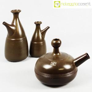 Ceramiche Franco Pozzi, tris brocche marroni, Ambrogio Pozzi (3)