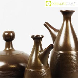 Ceramiche Franco Pozzi, tris brocche marroni, Ambrogio Pozzi (5)