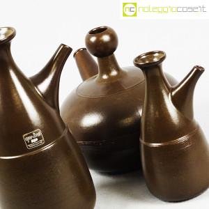 Ceramiche Franco Pozzi, tris brocche marroni, Ambrogio Pozzi (6)