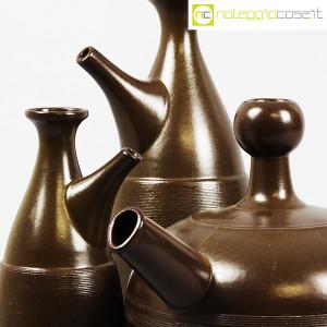 Ceramiche Franco Pozzi, tris brocche marroni, Ambrogio Pozzi (7)