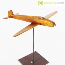 Modellino di aereo in legno con base