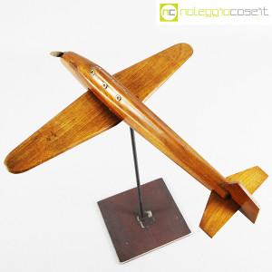 Modellino di aereo in legno con base (4)