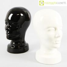 Teste in ceramica nero e bianco