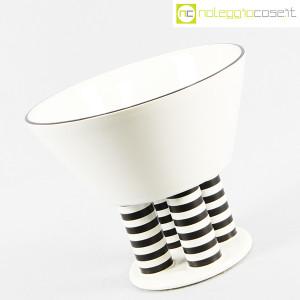 Vienna Collection, alzata in ceramica bianco e nero, Heide Warlamis (3)