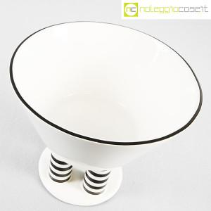 Vienna Collection, alzata in ceramica bianco e nero, Heide Warlamis (4)