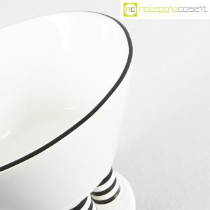 Vienna Collection, alzata in ceramica bianco e nero, Heide Warlamis (8)
