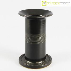 Ceramiche Bucci, vaso colonna nero, Franco Bucci (1)