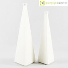 Milesi Ceramiche vasi a piramide bianchi