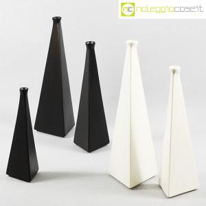 Milesi Ceramiche, coppia vasi a piramide bianchi (9)
