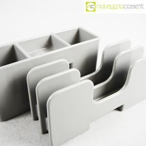 Olivetti, portapenne e portalettere grigi serie Synthesis, Ettore Sottsass (5)