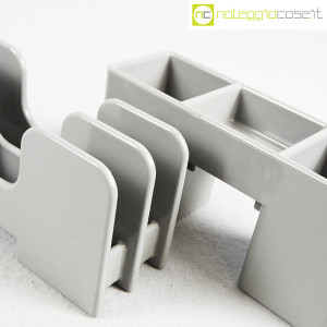 Olivetti, portapenne e portalettere grigi serie Synthesis, Ettore Sottsass (6)