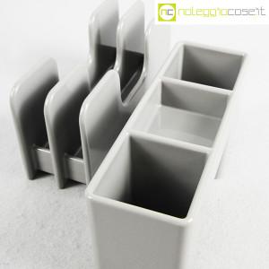 Olivetti, portapenne e portalettere grigi serie Synthesis, Ettore Sottsass (7)