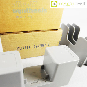 Olivetti, portapenne e portalettere grigi serie Synthesis, Ettore Sottsass (8)
