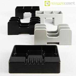 Olivetti, portapenne e portalettere grigi serie Synthesis, Ettore Sottsass (9)