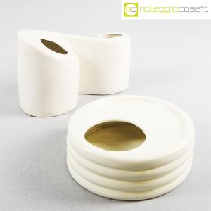 Parravicini Ceramiche, vaso e posacenere bianco (1)