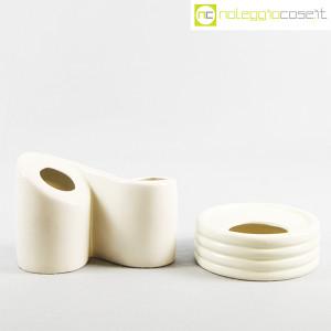 Parravicini Ceramiche, vaso e posacenere bianco (2)
