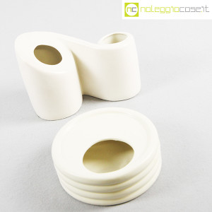 Parravicini Ceramiche, vaso e posacenere bianco (4)