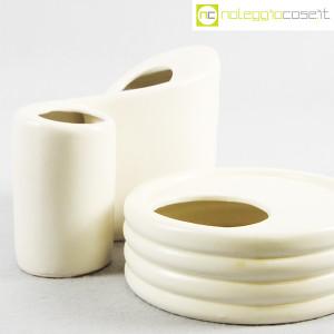 Parravicini Ceramiche, vaso e posacenere bianco (6)