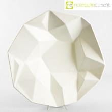 Centrotavola in ceramica sfaccettato