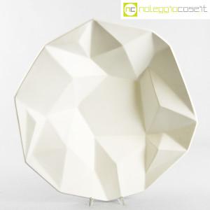Centrotavola grande sfaccettato in ceramica bianca (1)