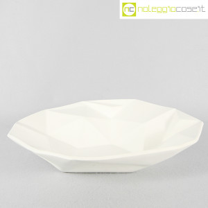 Centrotavola grande sfaccettato in ceramica bianca (2)