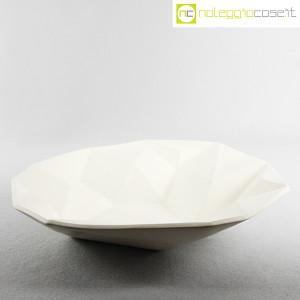 Centrotavola grande sfaccettato in ceramica bianca (3)