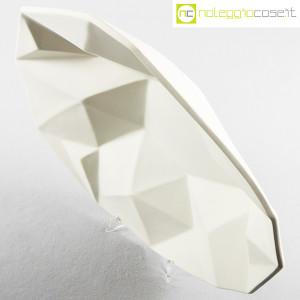 Centrotavola grande sfaccettato in ceramica bianca (4)